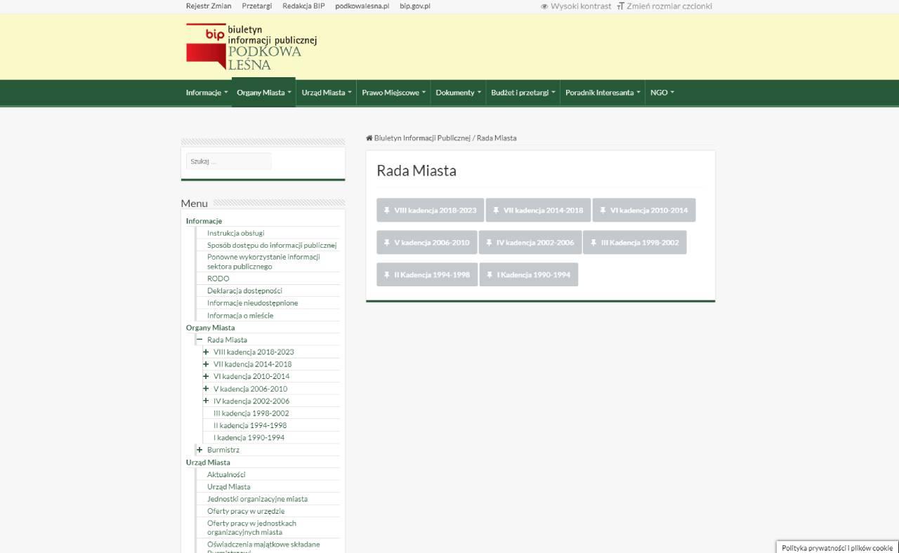 ROAN24 BIP Comhairle Cathrach Foraoise Podkowa