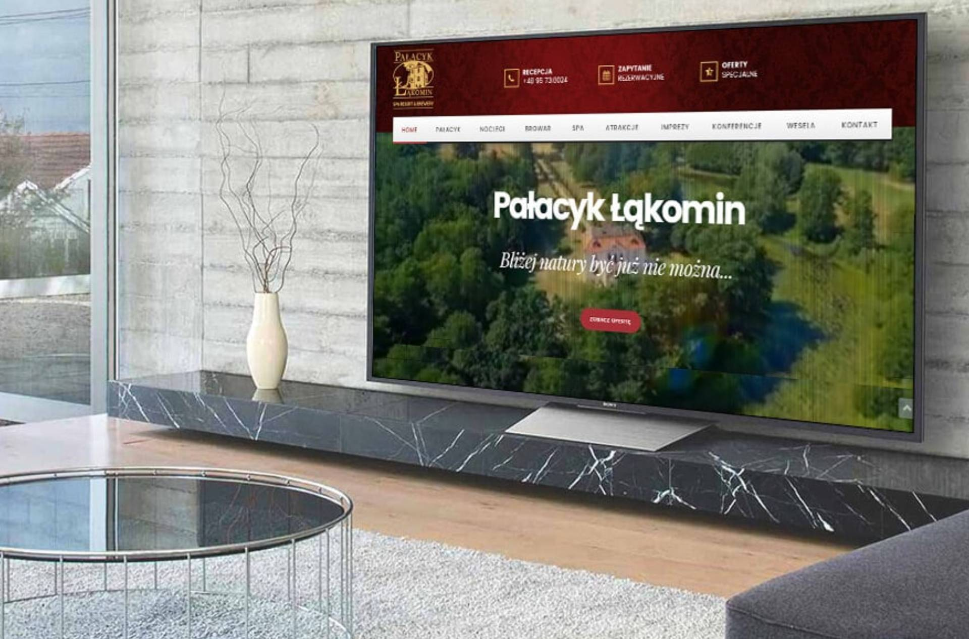 ROAN24 Pałacyk Łąkomin Suíomh Gréasáin