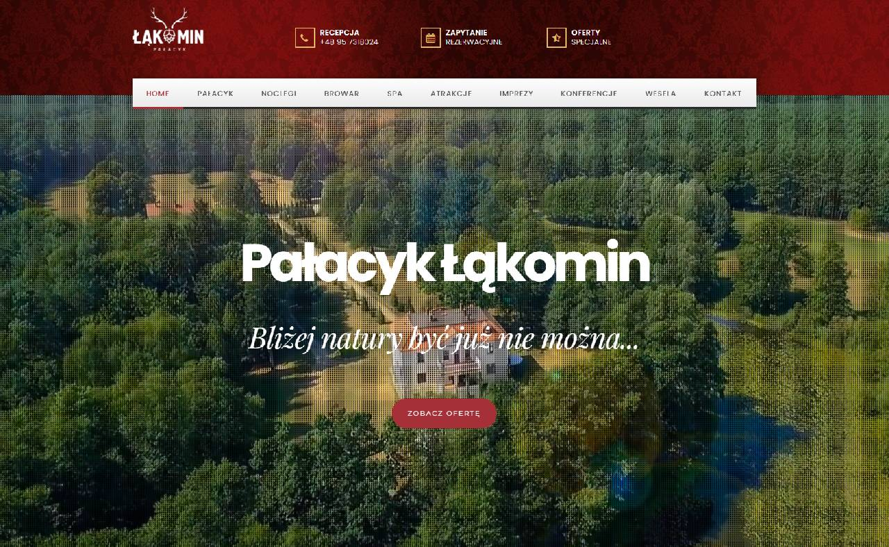 ROAN24 Pałacyk Łąkomin HOME Suíomh Gréasáin