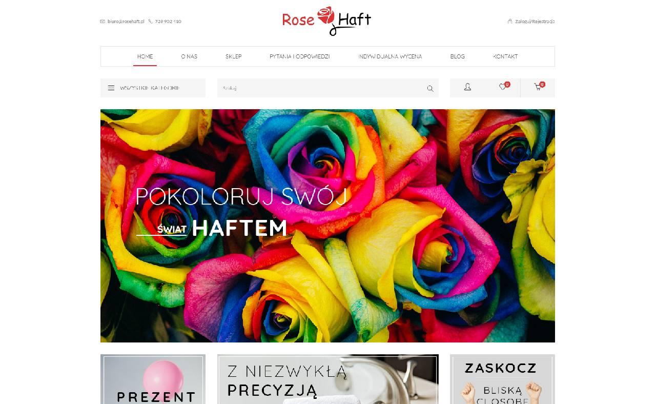 ROAN24 Bróidnéireacht Rose HOME Store Ar Líne